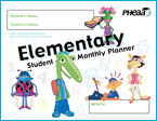 Image showing cover of Elementary Student Monthly Planner