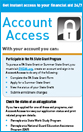 Image showing cover of the Account Access Bookmark